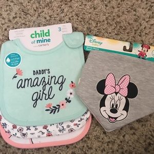 Baby girl Disney bib bundle NWT